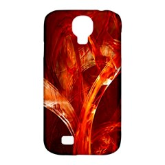 Red Abstract Pattern Texture Samsung Galaxy S4 Classic Hardshell Case (pc+silicone)