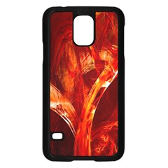 Red Abstract Pattern Texture Samsung Galaxy S5 Case (black)
