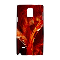 Red Abstract Pattern Texture Samsung Galaxy Note 4 Hardshell Case