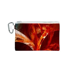 Red Abstract Pattern Texture Canvas Cosmetic Bag (s)