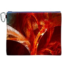 Red Abstract Pattern Texture Canvas Cosmetic Bag (xxxl)