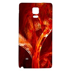 Red Abstract Pattern Texture Galaxy Note 4 Back Case