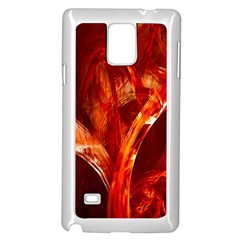 Red Abstract Pattern Texture Samsung Galaxy Note 4 Case (white)