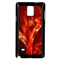 Red Abstract Pattern Texture Samsung Galaxy Note 4 Case (black)