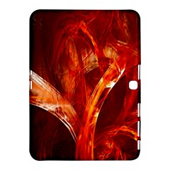 Red Abstract Pattern Texture Samsung Galaxy Tab 4 (10 1 ) Hardshell Case