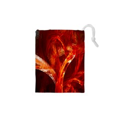 Red Abstract Pattern Texture Drawstring Pouches (xs)