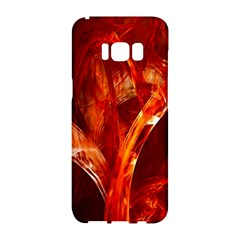 Red Abstract Pattern Texture Samsung Galaxy S8 Hardshell Case