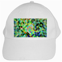 Pixel Pattern A Completely Seamless Background Design White Cap