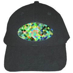 Pixel Pattern A Completely Seamless Background Design Black Cap
