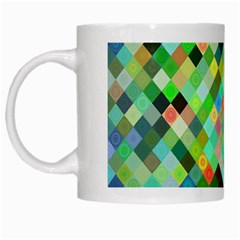 Pixel Pattern A Completely Seamless Background Design White Mugs