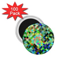 Pixel Pattern A Completely Seamless Background Design 1 75  Magnets (100 Pack)