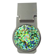 Pixel Pattern A Completely Seamless Background Design Money Clips (round)