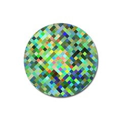 Pixel Pattern A Completely Seamless Background Design Magnet 3  (round)