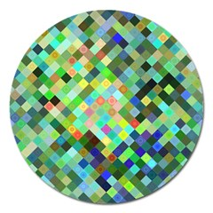 Pixel Pattern A Completely Seamless Background Design Magnet 5  (round)