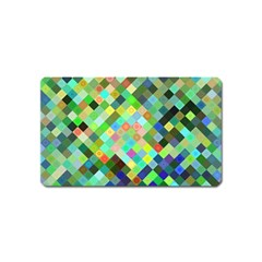 Pixel Pattern A Completely Seamless Background Design Magnet (name Card)