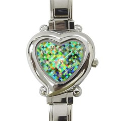 Pixel Pattern A Completely Seamless Background Design Heart Italian Charm Watch