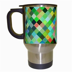 Pixel Pattern A Completely Seamless Background Design Travel Mugs (white)