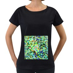 Pixel Pattern A Completely Seamless Background Design Women s Loose Fit T Shirt (black)
