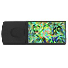Pixel Pattern A Completely Seamless Background Design Usb Flash Drive Rectangular (4 Gb)