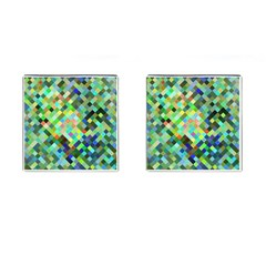 Pixel Pattern A Completely Seamless Background Design Cufflinks (square)