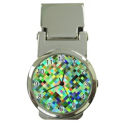 Pixel Pattern A Completely Seamless Background Design Money Clip Watches