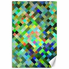 Pixel Pattern A Completely Seamless Background Design Canvas 24  X 36