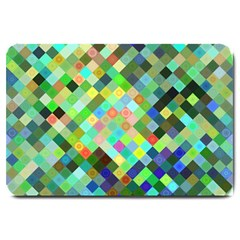 Pixel Pattern A Completely Seamless Background Design Large Doormat
