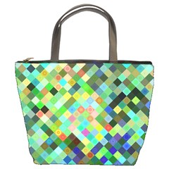 Pixel Pattern A Completely Seamless Background Design Bucket Bags