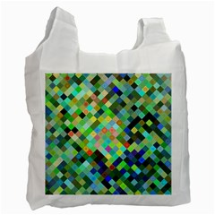 Pixel Pattern A Completely Seamless Background Design Recycle Bag (one Side)