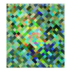 Pixel Pattern A Completely Seamless Background Design Shower Curtain 66  X 72  (large)