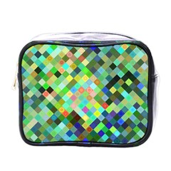 Pixel Pattern A Completely Seamless Background Design Mini Toiletries Bags