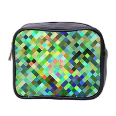 Pixel Pattern A Completely Seamless Background Design Mini Toiletries Bag 2 Side