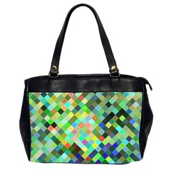Pixel Pattern A Completely Seamless Background Design Office Handbags (2 Sides)