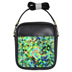 Pixel Pattern A Completely Seamless Background Design Girls Sling Bags