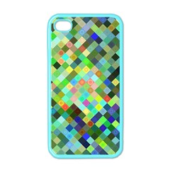 Pixel Pattern A Completely Seamless Background Design Apple Iphone 4 Case (color)
