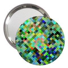 Pixel Pattern A Completely Seamless Background Design 3  Handbag Mirrors