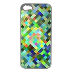 Pixel Pattern A Completely Seamless Background Design Apple Iphone 5 Case (silver)