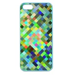 Pixel Pattern A Completely Seamless Background Design Apple Seamless Iphone 5 Case (color)