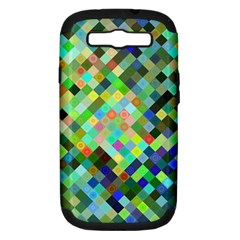 Pixel Pattern A Completely Seamless Background Design Samsung Galaxy S Iii Hardshell Case (pc+silicone)