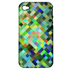 Pixel Pattern A Completely Seamless Background Design Apple Iphone 4/4s Hardshell Case (pc+silicone)