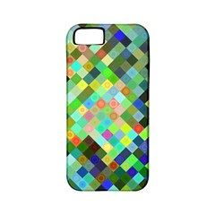 Pixel Pattern A Completely Seamless Background Design Apple Iphone 5 Classic Hardshell Case (pc+silicone)