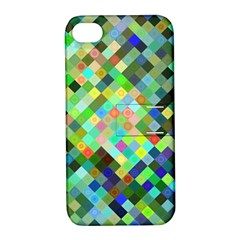 Pixel Pattern A Completely Seamless Background Design Apple Iphone 4/4s Hardshell Case With Stand