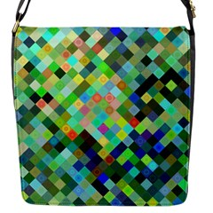 Pixel Pattern A Completely Seamless Background Design Flap Messenger Bag (s)
