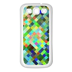 Pixel Pattern A Completely Seamless Background Design Samsung Galaxy S3 Back Case (white)