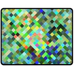 Pixel Pattern A Completely Seamless Background Design Double Sided Fleece Blanket (medium)