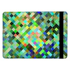 Pixel Pattern A Completely Seamless Background Design Samsung Galaxy Tab Pro 12 2  Flip Case