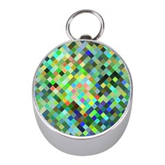 Pixel Pattern A Completely Seamless Background Design Mini Silver Compasses