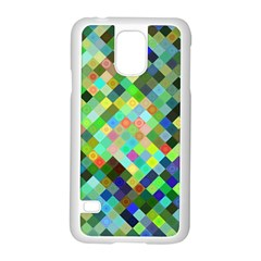 Pixel Pattern A Completely Seamless Background Design Samsung Galaxy S5 Case (white)
