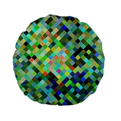 Pixel Pattern A Completely Seamless Background Design Standard 15  Premium Flano Round Cushions