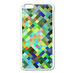 Pixel Pattern A Completely Seamless Background Design Apple Iphone 6 Plus/6s Plus Enamel White Case